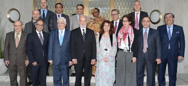 السيد الممثل الدائم يقيم دعوة غداءٍ على شرف السيد وزير الخارجية لرؤساء البعثات العربية في جنيف